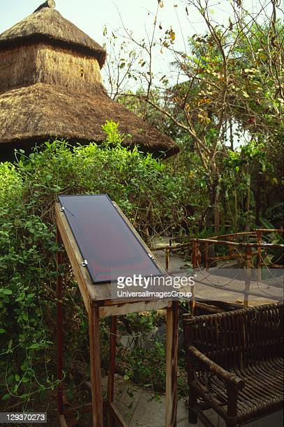 Makasutu Nature Forest, solar panel to generate electricity in remote area, The Gambia.