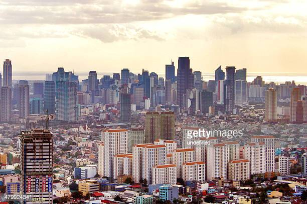 makati and mandaluyong - manila stock photos and pictures