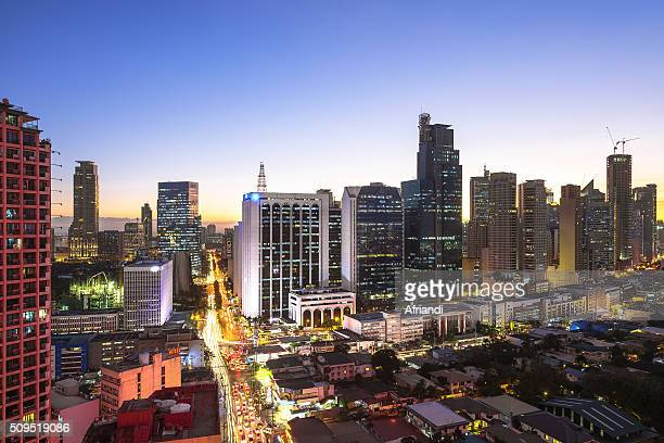 makati business district and residential area, philippines - makati stock photos and pictures