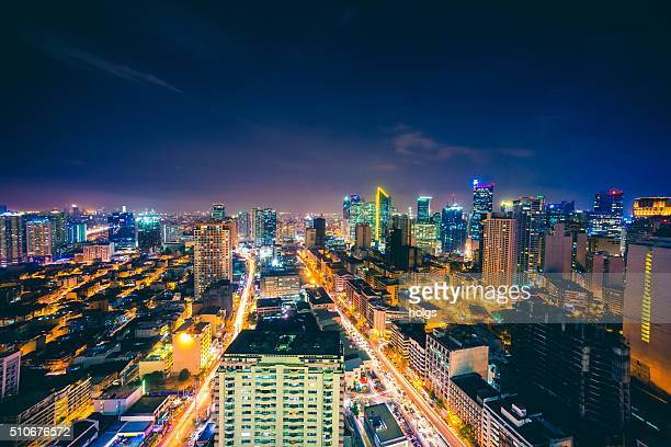 makati skyline in metro manila, philippines - makati stock photos and pictures
