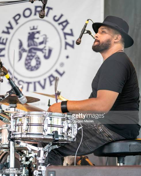 Makaya McCraven performs during the Newport Jazz Festival 2019 at Fort Adams State Park on August 03, 2019 in Newport, Rhode Island.