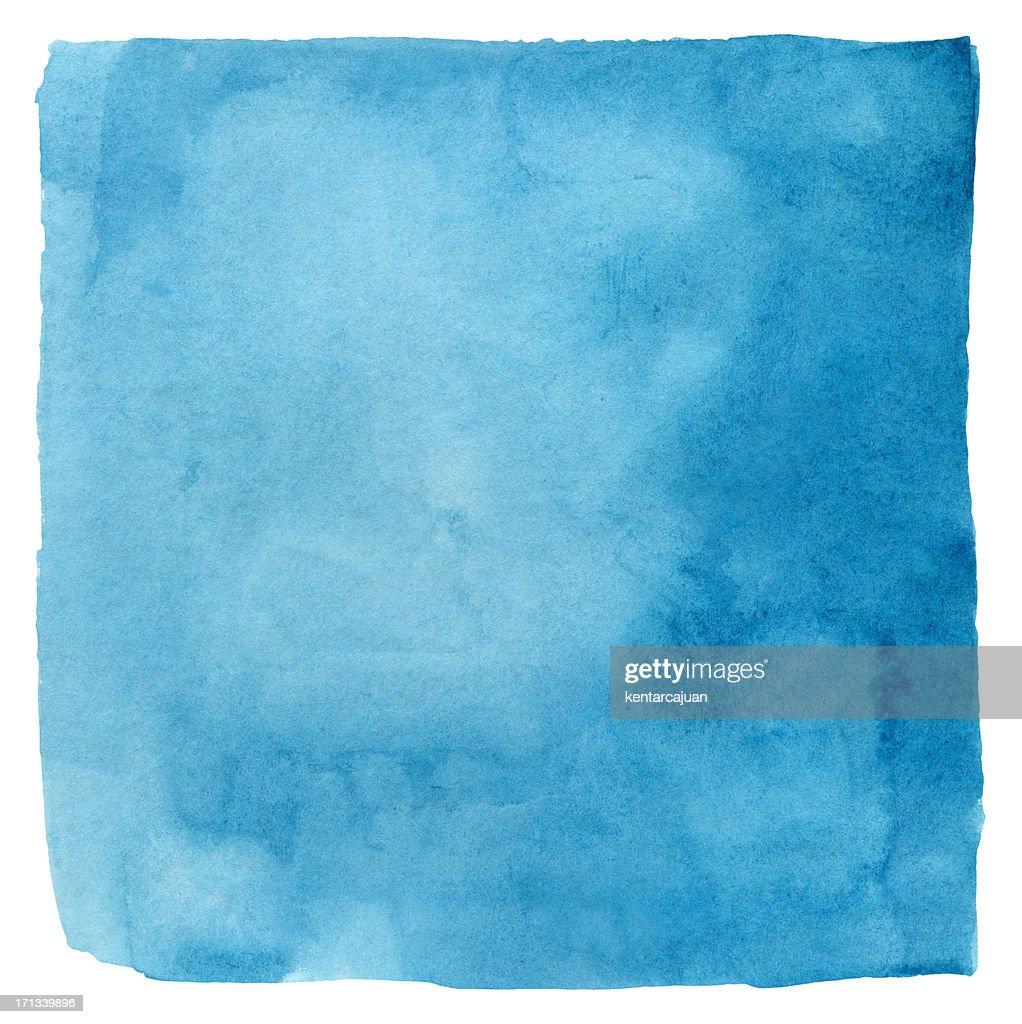 Makayan Blue Watercolour Square : Stock Photo