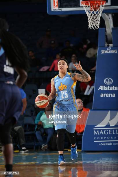 Makayla Epps of the Chicago Sky calls the play during the game against the Atlanta Dream on May 19 2017 at the Allstate Arena in Rosemont Illinois...