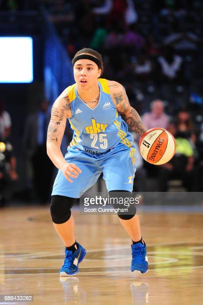 Makayla Epps of the Chicago Sky handles the ball against the Atlanta Dream on May 21 2017 at Hank McCamish Pavilion in Atlanta Georgia NOTE TO USER...