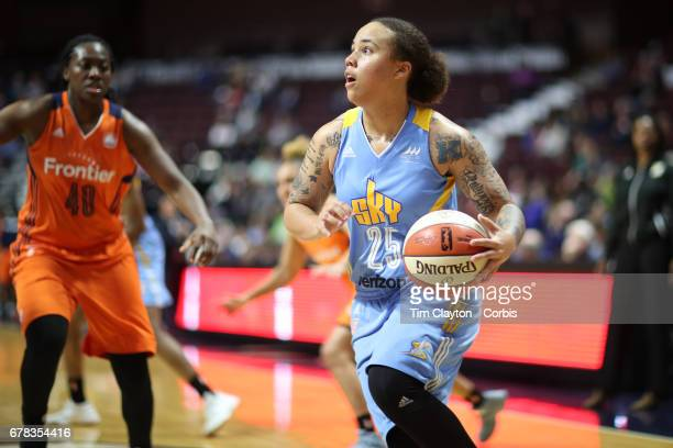 Makayla Epps of the Chicago Sky in action during the Connecticut Sun Vs Chicago Sky WNBA pre season game at Mohegan Sun Arena on May 2 2017 in...