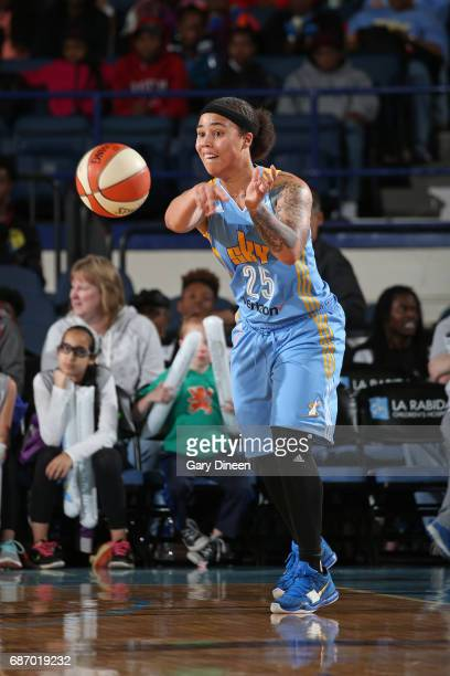 Makayla Epps of the Chicago Sky passes the ball against the Atlanta Dream on May 19 2017 at the Allstate Arena in Rosemont Illinois NOTE TO USER User...