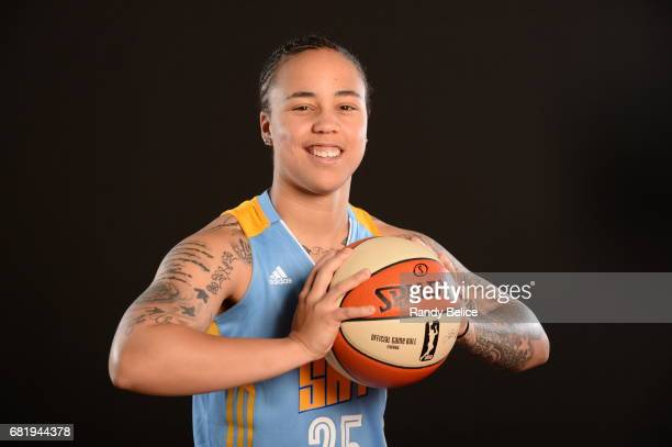 Makayla Epps of the Chicago Sky poses for portraits during 2017 WNBA Media Day on May 10 2017 at Sachs Recreation Center in Deerfield Illinois NOTE...