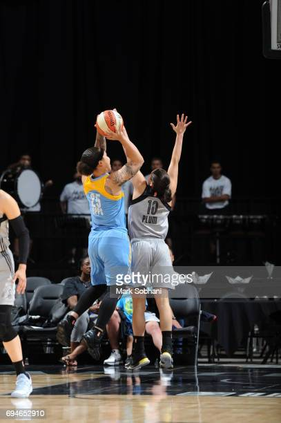 Makayla Epps of the Chicago Sky shoots the ball against the San Antonio Stars on June 10 2017 at the ATT Center in San Antonio Texas NOTE TO USER...