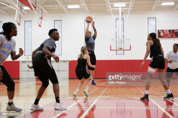 Makayla Epps of the Chicago Sky shoots the ball during practice on May 9 2017 at Deerfield High School in Deerfield Illinois NOTE TO USER User...