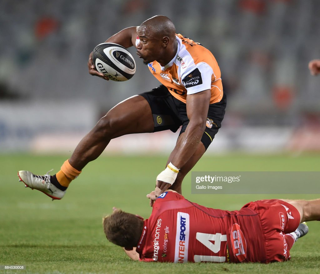 Guinness Pro14: Makazola Mapimpi Of The Toyota Cheetahs And Tom Prydie Of