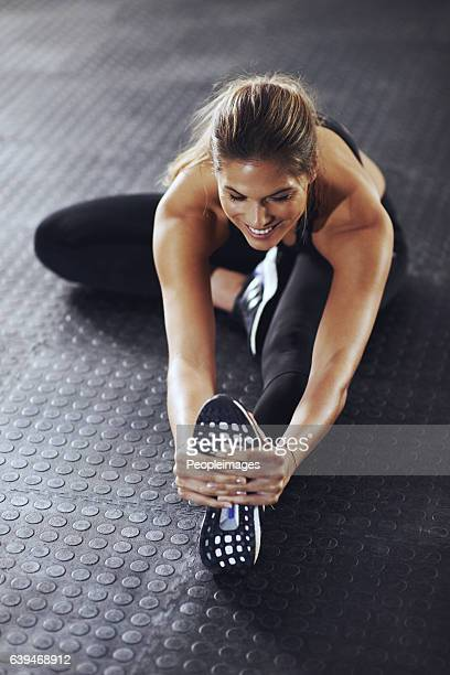 make a commitment, not an excuse - stretching stock photos and pictures