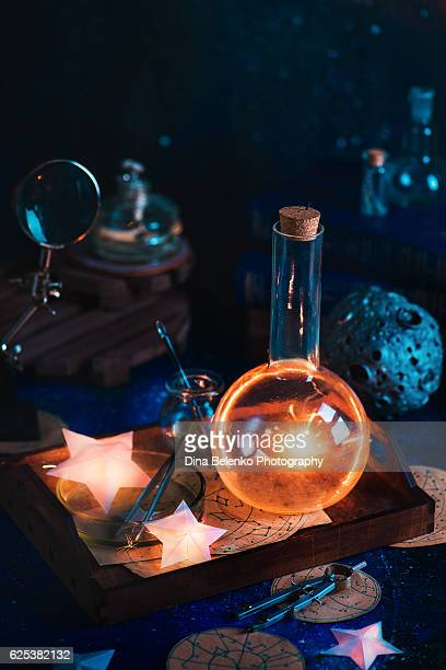 Make a wish: a magical still life with tamed shooting star