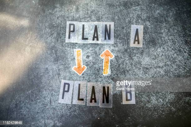 make decisions plan a or plan b - possible stock pictures, royalty-free photos & images