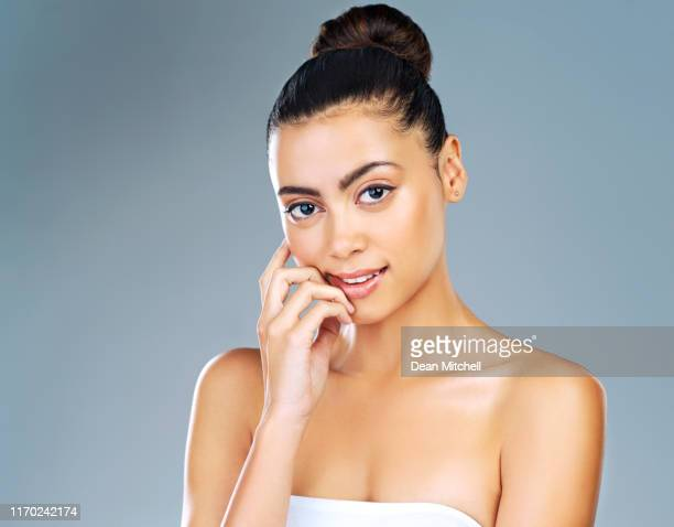 make it a point to take care of your skin - hair back stock pictures, royalty-free photos & images