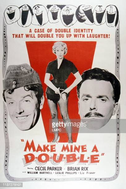 Make Mine A Double poster poster from left Brian Rix Liz Fraser Leslie Phillips 1961