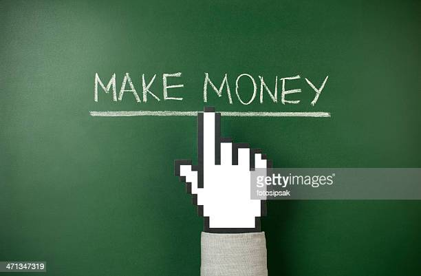 make money - cursor stock pictures, royalty-free photos & images