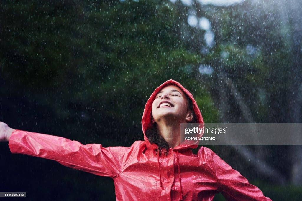 Rendi i giorni di pioggia giorni divertenti e pieni di giorni : Foto stock