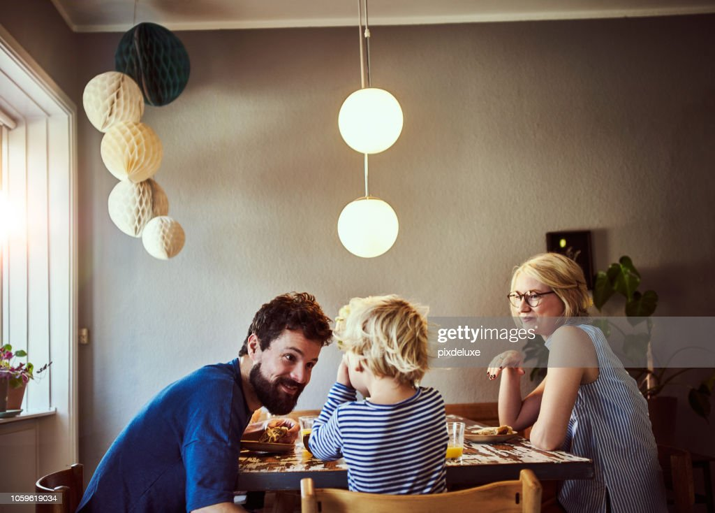 Make sure you eat all your breakfast : Stock Photo