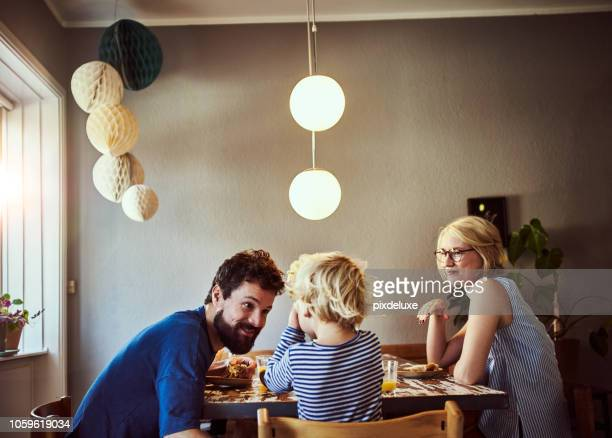 make sure you eat all your breakfast - family stock pictures, royalty-free photos & images