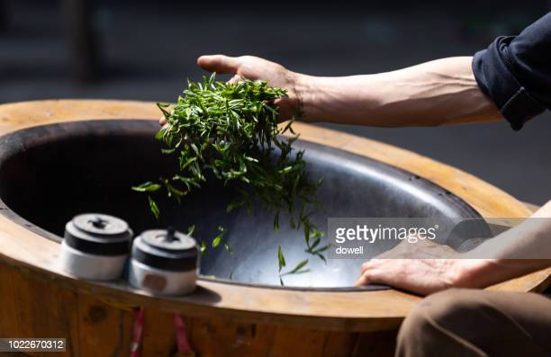 make tea leaf - tea leaves stock photos and pictures