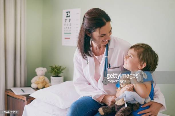 make the experience fun for them - paediatrician stock pictures, royalty-free photos & images
