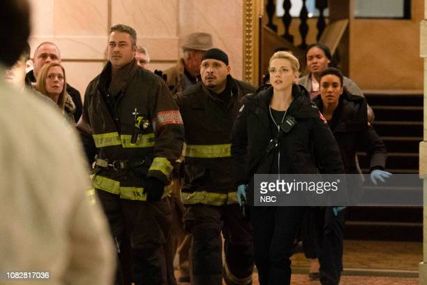 FIRE 'Make This Right' Episode 712 Pictured Taylor Kinney as Kelly Severide Joe Minoso as Joe Cruz Kara Killmer as Sylvie Brett