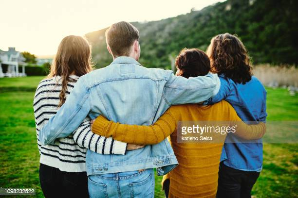 make time for your friendships - clique stock pictures, royalty-free photos & images