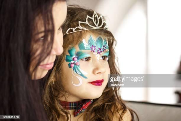 Make up artist and a beautiful little girl