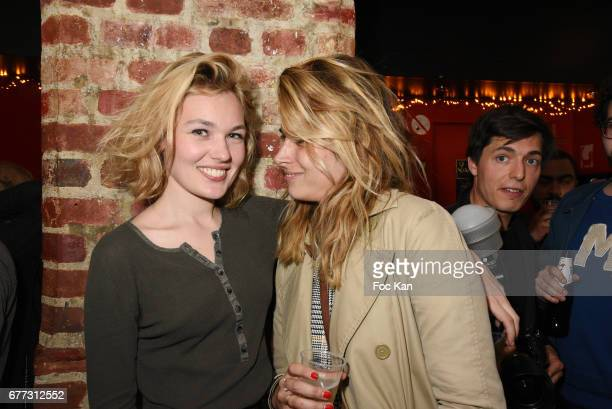 Make up artist Camille Arnaud and model Alice Aufray attend 'Attachiante' Chanez Concert and Birthday Party at Sentier des Halles Club on May 2 2017...