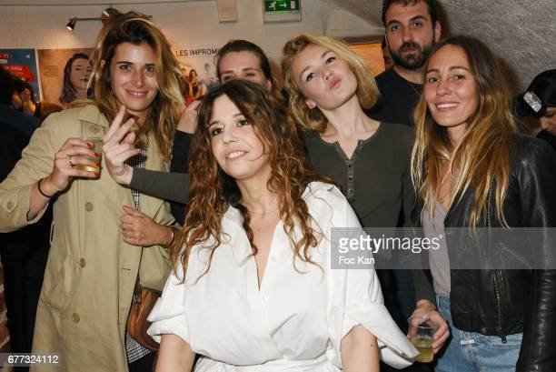 Make up artist Camille Arnaud singer Chanez singer Marie Amelie Seigner model Alice Aufray and Sidney Carron attends 'Attachiante' Chanez Concert and...
