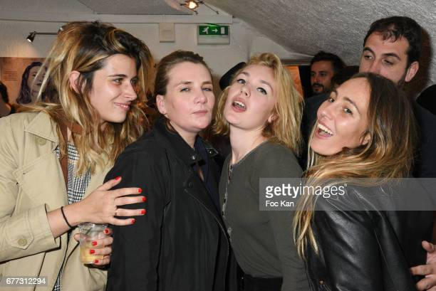 Make up artist Camille Arnaud singer Marie Amelie Seigner model Alice Aufray and Sidney Carron attends 'Attachiante' Chanez Concert and Birthday...