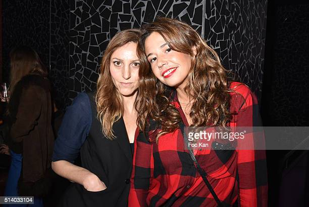 Make up artist Isabelle Theviot and singer Chanez Ta attend the 1978 Fashion Week Disco Inferno Party Hosted by Closed at Les Bains Douches as part...