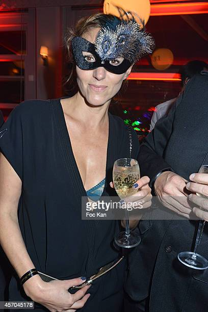 Make up artist Isabelle Theviot attends the Marc Dorcel 35th Anniversary Masked Ball at the Chalet des Iles on October 10 2014 in Paris France