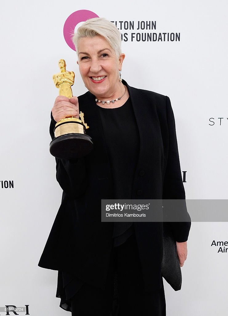 Make up artist Lesley Vanderwalt attends the 24th Annual Elton John AIDS Foundation's Oscar Viewing Party at The City of West Hollywood Park on February 28, 2016 in West Hollywood, California.