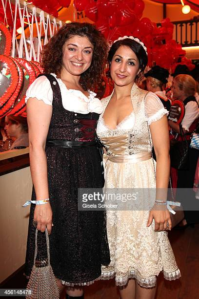 Make Up artist Nahid Shahalimi and Stylistin Laila Hamidi attend the 'Sixt Damen Wiesn' at Marstall tent during Oktoberfest at Theresienwiese on...