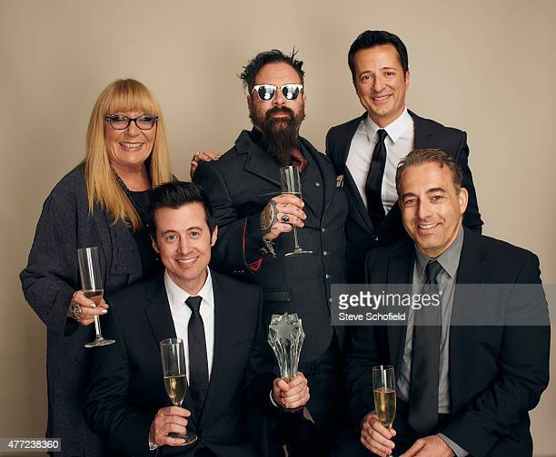 Make up artists Ve Neill and Glenn Hetrick producer Dwight D Smith and producers Derek Atherton and Michael Agbabian from 'Face Off' pose for a...