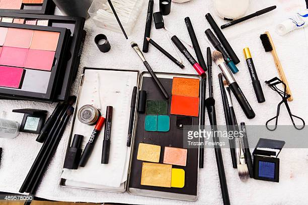 Make up backstage ahead of the Toga show during London Fashion Week Spring/Summer 2016 on September 22 2015 in London England