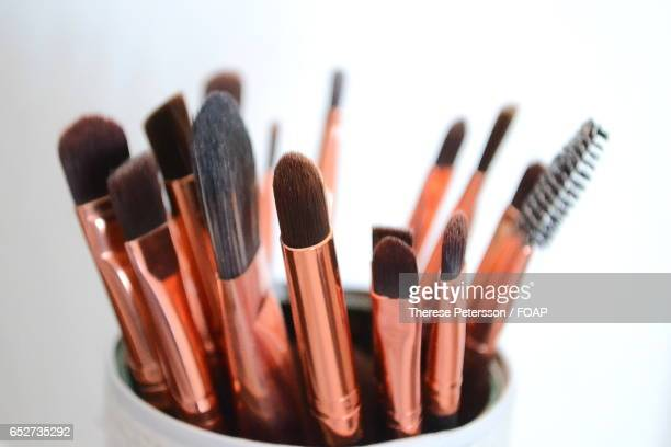 Make up brushes in a jar