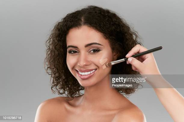 make up is all about applying it correctly - concealer stock photos and pictures