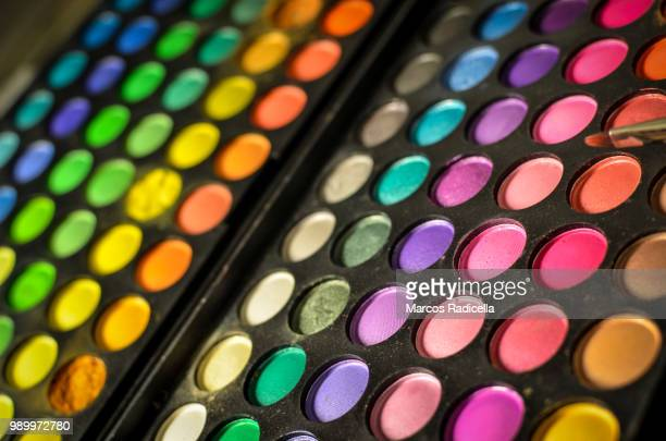 make up palette - radicella stock pictures, royalty-free photos & images