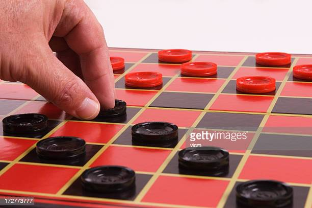 make your move - checkers stock photos and pictures