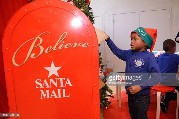 MakeAWish child mails his letter to Santa at Macy's on State Street Macy's will donate a dollar to MakeAWish for every letter sent to Santa in store...