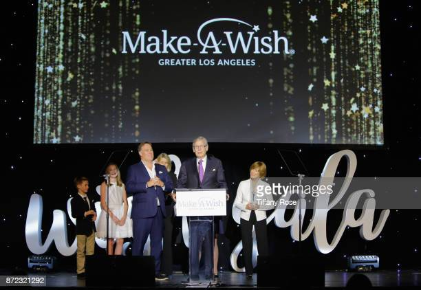 Make-A-Wish Foundation Philanthropic Leadership Award recipient Nelson Rising speaks onstage at the 2017 Make a Wish Gala on November 9, 2017 in Los...