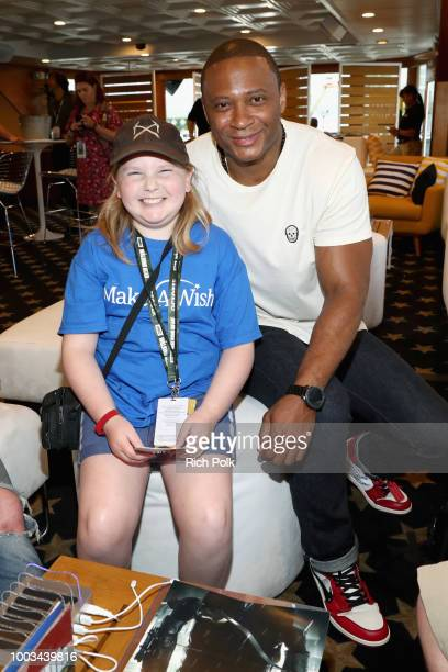 MakeAWish Foundation recipient and actor David Ramsey attend the #IMDboat At San Diego ComicCon 2018 Day Three at The IMDb Yacht on July 21 2018 in...