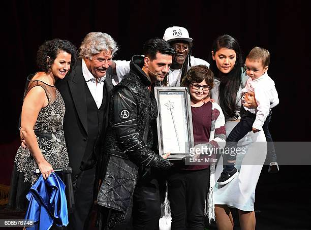 MakeAWish Southern Nevada President and CEO Caroline Ciocca singer Tony Orlando Illusionist Criss Angel rapper Flavor Flav Kaila Elders from the...