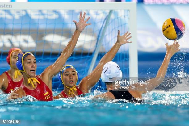 Makenzie Fischer during the Women's Water Polo gold medal match between the United States and Spain on day fifteen of the Budapest 2017 FINA World...