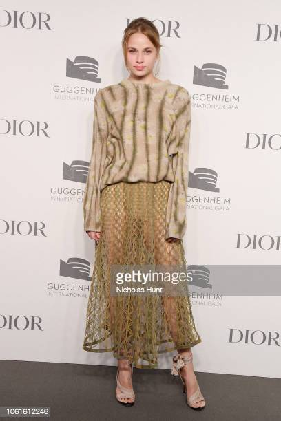 Makenzie Leigh attends the 2018 Guggenheim International Gala PreParty made possible by Dior at Solomon R Guggenheim Museum on November 14 2018 in...