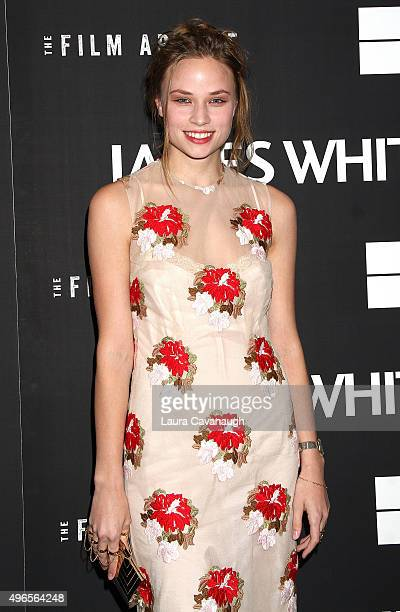 Makenzie Leigh attends the James White New York Premiere at Museum of Modern Art on November 10 2015 in New York City