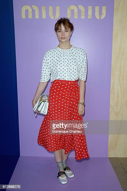 Makenzie Leigh attends the Miu Miu show as part of the Paris Fashion Week Womenswear Spring/Summer 2017 on October 5 2016 in Paris France