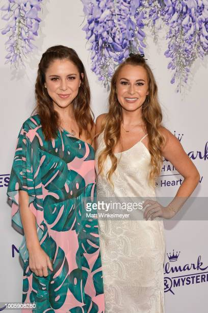 Makenzie Vega and Alexa PenaVega attend the 2018 Hallmark Channel Summer TCA at Private Residence on July 26 2018 in Beverly Hills California